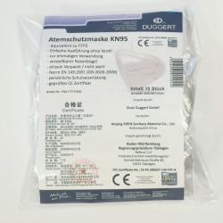 Packung mit 10 Masken Typ KN95 inkl. Produktinformation und Zertifikate.